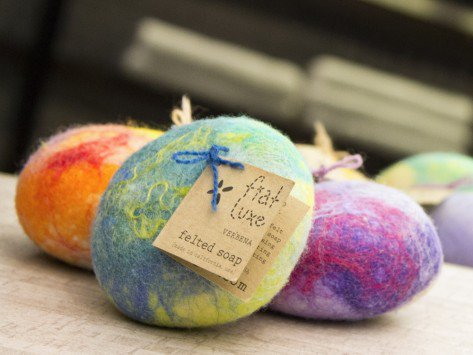 Design Finds- Holiday Hostess Gifts under $50 - Fiat Luxe Felted Soaps