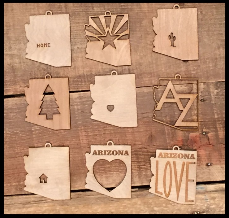 AZ Ornaments from LetterCraft - FINDS CREATIVE GIFT GUIDE 2014