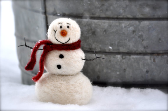 DIY Craft Kit - Needle Felted Snowman  - FINDS CREATIVE GIFT GUIDE 2014