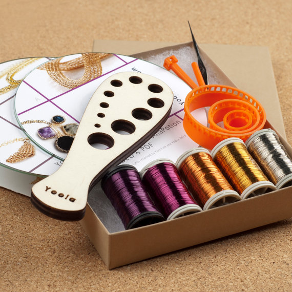 DIY Kit TOPAZ  - Wire crochet Tutorials and Supplies - FINDS CREATIVE GIFT GUIDE 2014