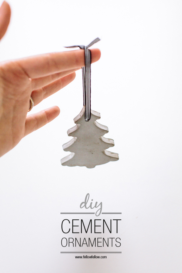 FINDS Holiday DIY Roundup - DIY Cement Ornaments