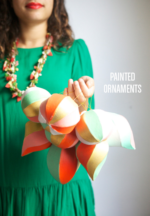 FINDS Holiday DIY Roundup - Painted Ornaments