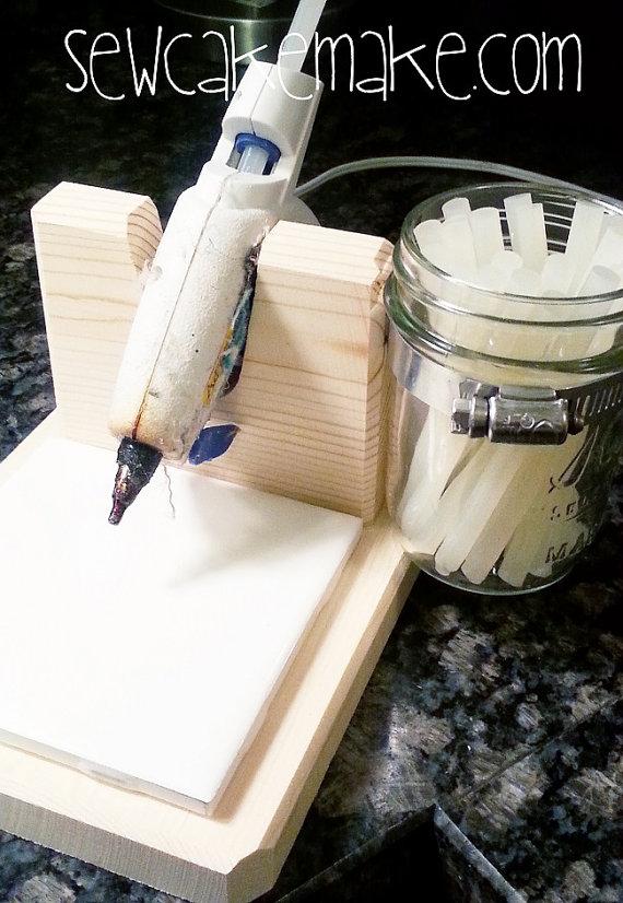 Hot Glue Gun Stand WITH Glue Holder - FINDS CREATIVE GIFT GUIDE 2014