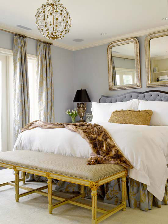 Glamourous Romance - FINDS - Non-Traditional Romantic Bedrooms