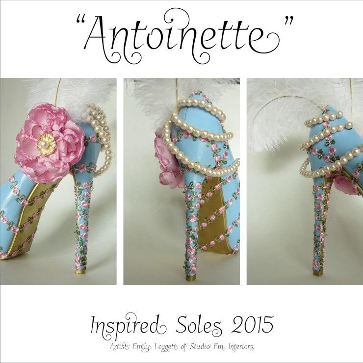 """""""Antoinette"""" - Inspired Soles 2015 - Artist: Emily Leggett of Studio Em Interiors"""