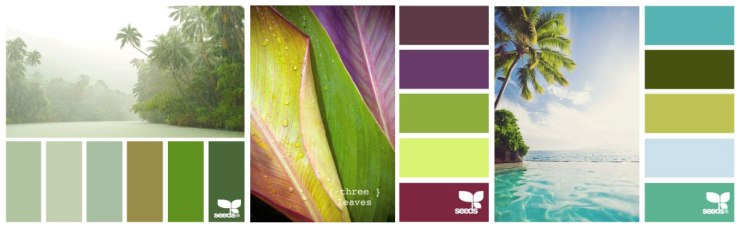 Choosing a tropical color palette