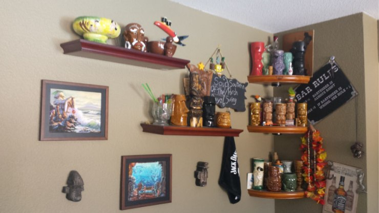 Tiki-Bar-Style-Tiki-Mug-Display---FINDS-Blog---How-to-Display-a-Collection