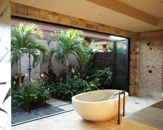 Tropical Bathroom Inspiration - 1 - FINDS Blog