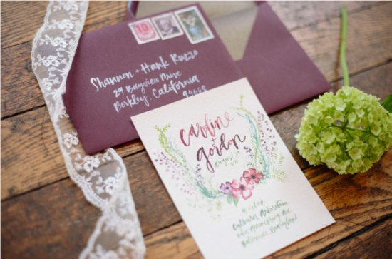 Ashley Bush Invitation Design and Envelope Addressing