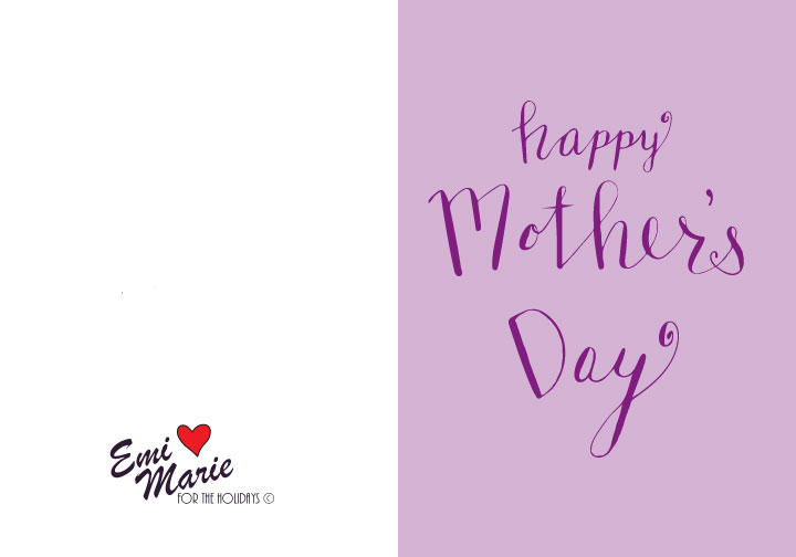 image relating to Happy Mothers Day Printable Cards called Joyful Moms Working day No cost Printable Calligraphy Card
