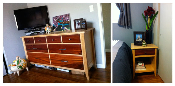 Dresser and Nightstand my Dad made for me