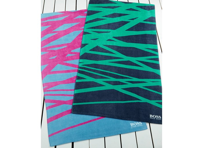 Hugo Boss Crossed Lines Beach Towel - 10 Summer Beach Towels - FINDS Blog