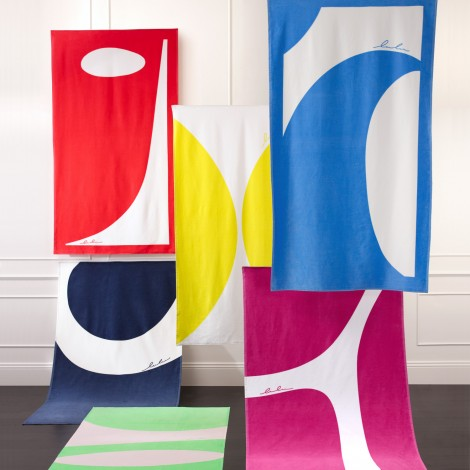 Matouk Abstractions Beach Towels - 10 Summer Beach Towels - FINDS Blog