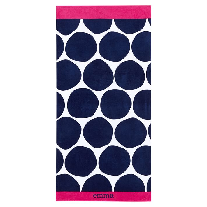 PBTeen Bubble Dot Beach Towel - 10 Summer Beach Towels - FINDS Blog