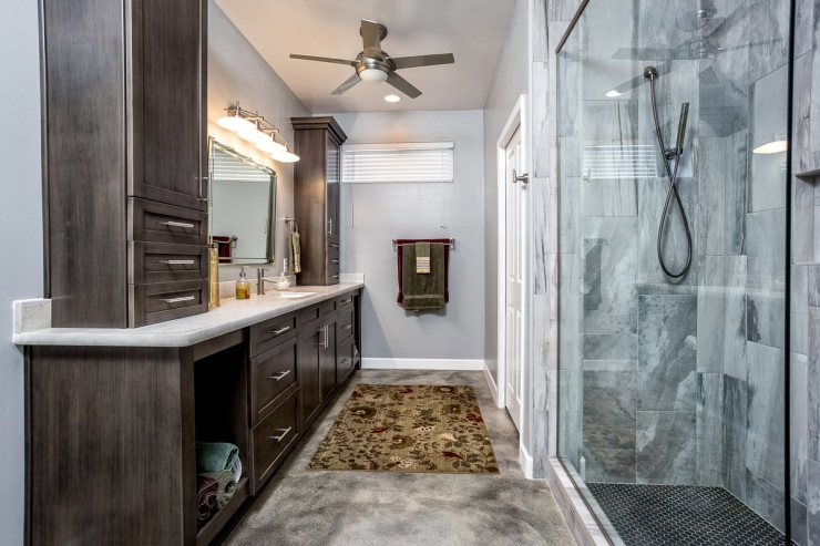 Lakeside Rebuild - Master Bathroom - Studio Em Interiors