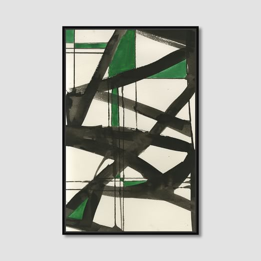 abstract green graffiti - West Elm