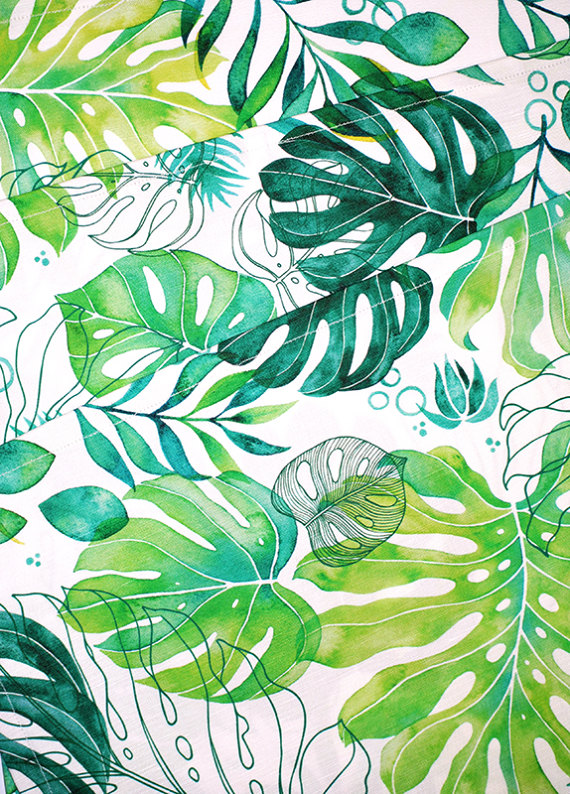 Monstera Tea Towel - GeoBonaica Etsy