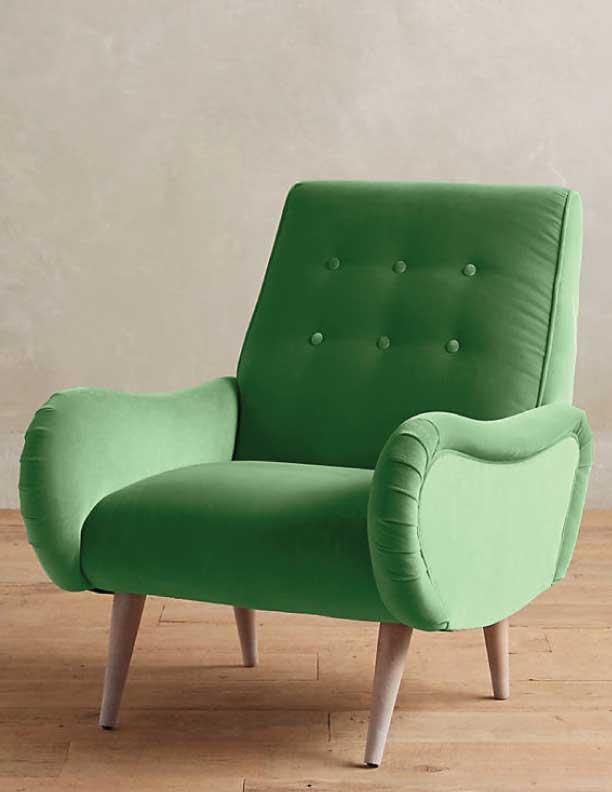 Velvet Losange Chair - Anthropologie