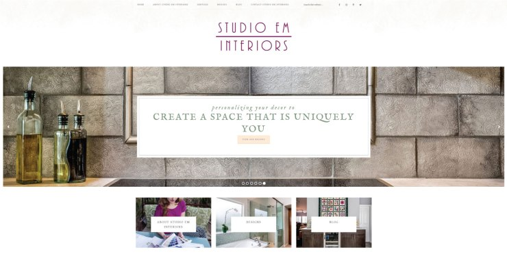 Studio Em Interiors New Website Launch and New Blog Launch